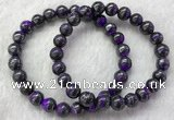CGB2610 7.5 inches 8mm round natural sugilite beaded bracelets