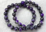 CGB2611 7.5 inches 9mm round natural sugilite beaded bracelets