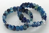 CGB3105 7.5 inches 8*15mm oval agate gemstone bracelets