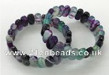 CGB3108 7.5 inches 8*15mm oval agate gemstone bracelets