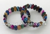 CGB3113 7.5 inches 8*15mm oval agate gemstone bracelets
