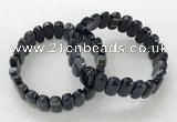 CGB3114 7.5 inches 8*15mm oval agate gemstone bracelets