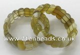 CGB3120 7.5 inches 10*20mm faceted oval agate bracelets