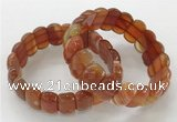 CGB3126 7.5 inches 10*20mm faceted oval agate bracelets