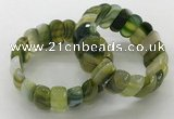 CGB3147 7.5 inches 11*23mm faceted oval agate bracelets