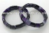 CGB3166 7.5 inches 12*15mm rectangle agate bracelets wholesale
