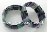 CGB3190 7.5 inches 15*25mm rectangle agate bracelets wholesale