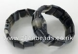 CGB3192 7.5 inches 15*25mm rectangle agate bracelets wholesale