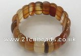 CGB3247 7.5 inches 12*25mm oval red agate bracelets