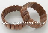 CGB3255 7.5 inches 12*25mm oval goldstone bracelets wholesale