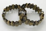 CGB3320 7.5 inches 10*20mm faceted oval yellow tiger eye bracelets