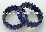 CGB3322 7.5 inches 10*20mm faceted oval lapis lazuli bracelets