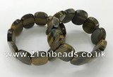 CGB3352 7.5 inches 19*25mm faceted oval blue tiger eye bracelets