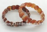 CGB3373 7.5 inches 10*15mm oval red line agate bracelets
