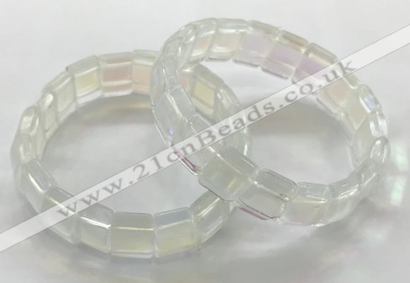 CGB3394 7.5 inches 10*15mm rectangle synthetic moonstone bracelets