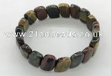 CGB3451 7.5 inches 10*15mm faceted marquise mixed tiger eye bracelets