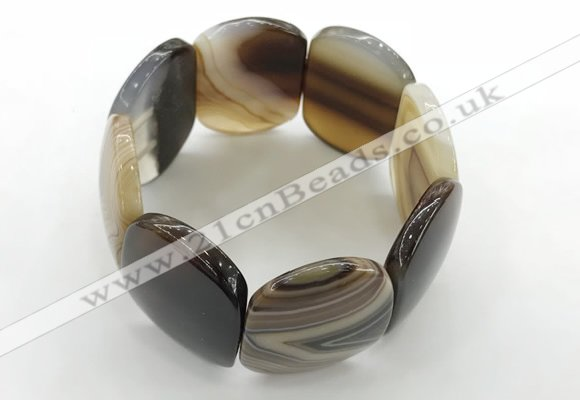 CGB3491 7.5 inches 30*40mm oval agate gemstone bracelets