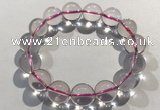 CGB4003 7.5 inches 14mm round rose quartz beaded bracelets