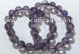 CGB4018 7.5 inches 11mm faceted round ametrine beaded bracelets