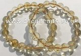 CGB4030 7.5 inches 9mm round citrine beaded bracelets wholesale