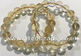 CGB4032 7.5 inches 11mm round citrine beaded bracelets wholesale