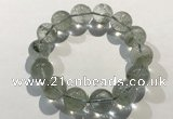 CGB4046 7.5 inches 13mm round green phantom quartz beaded bracelets