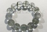 CGB4050 7.5 inches 18mm round green phantom quartz beaded bracelets