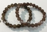 CGB4094 7.5 inches 9mm round rutilated quartz beaded bracelets
