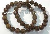 CGB4095 7.5 inches 10mm round rutilated quartz beaded bracelets