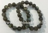 CGB4113 7.5 inches 10mm round labradorite beaded bracelets