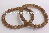 CGB4564 7.5 inches 8mm round golden sunstone beaded bracelets