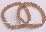 CGB4586 7.5 inches 7mm round sunstone beaded bracelets