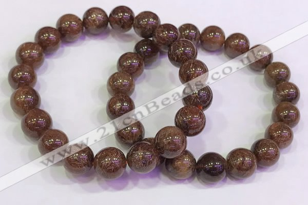 CGB4602 10mm - 11mm round golden rutilated quartz beaded bracelets