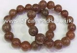 CGB4617 13mm - 14mm round golden rutilated quartz beaded bracelets