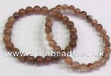 CGB4619 6mm - 7mm round golden rutilated quartz beaded bracelets
