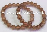 CGB4620 8mm - 9mm round golden rutilated quartz beaded bracelets