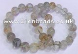 CGB4674 11mm - 12mm round green phantom quartz beaded bracelets
