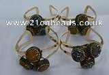 CGB915 20mm - 22mm coin druzy agate gemstone bangles wholesale