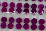 CGC112 14mm flat round druzy quartz cabochons wholesale