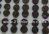CGC123 16mm flat round druzy quartz cabochons wholesale