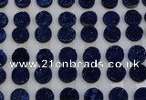 CGC124 16mm flat round druzy quartz cabochons wholesale