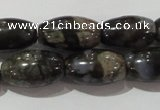 CGE115 15.5 inches 8*14mm rice glaucophane gemstone beads