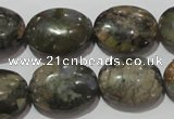 CGE134 15.5 inches 15*20mm oval glaucophane gemstone beads