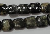 CGE152 15.5 inches 12*12mm square glaucophane gemstone beads