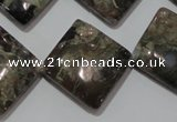 CGE172 15.5 inches 20*20mm diamond glaucophane gemstone beads