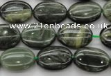 CGH43 15.5 inches 10*14mm oval green hair stone beads wholesale