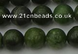 CGJ403 15.5 inches 10mm round green jade beads wholesale
