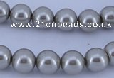 CGL181 2PCS 16 inches 25mm round dyed plastic pearl beads wholesale