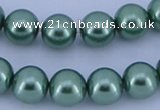 CGL225 5PCS 16 inches 10mm round dyed glass pearl beads wholesale