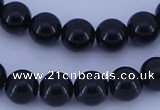 CGL284 10PCS 16 inches 8mm round dyed glass pearl beads wholesale